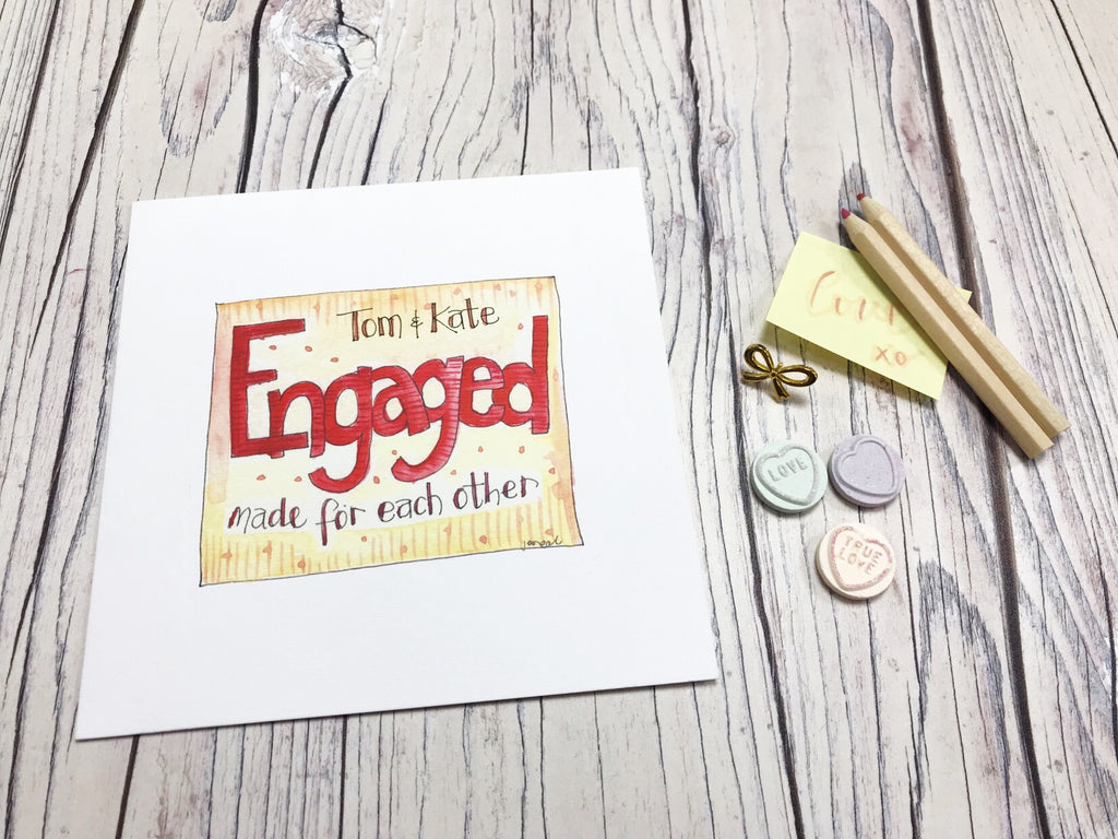 Engaged, to a lovely couple Card - Personalised