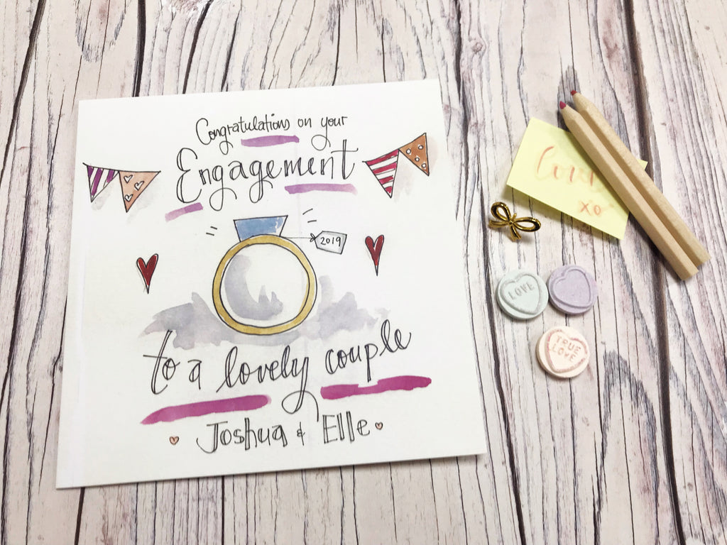 Engaged Text Card- Personalised