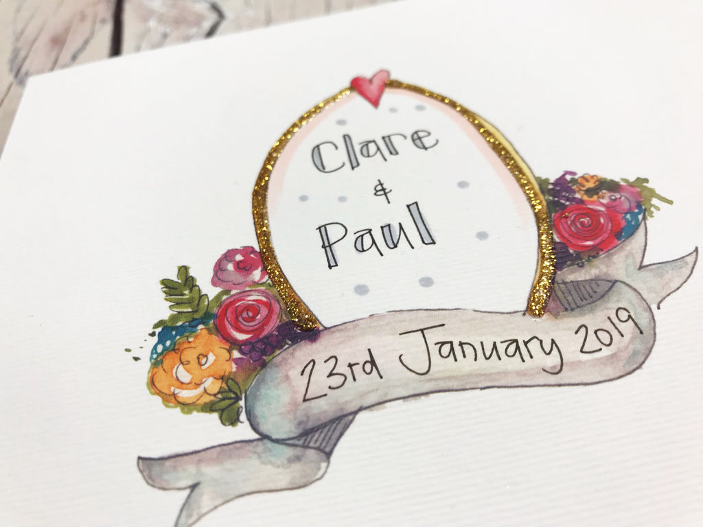 Baroque Wedding Card - Personalised