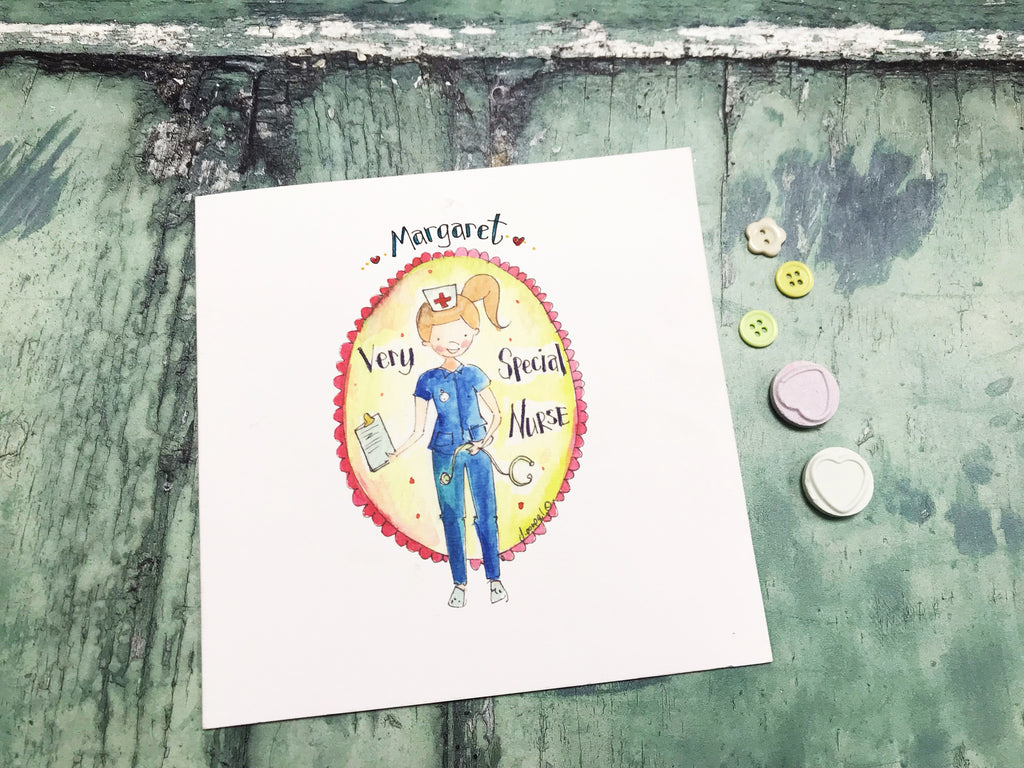 """Special Nurse"" Card - Personalised"