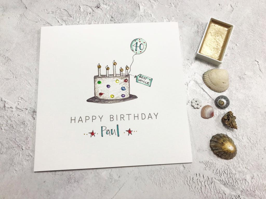 Happy Birthday Multi Cake Card - Personalised