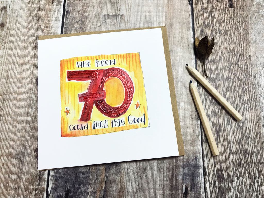 Happy 70th Birthday Card - Personalised
