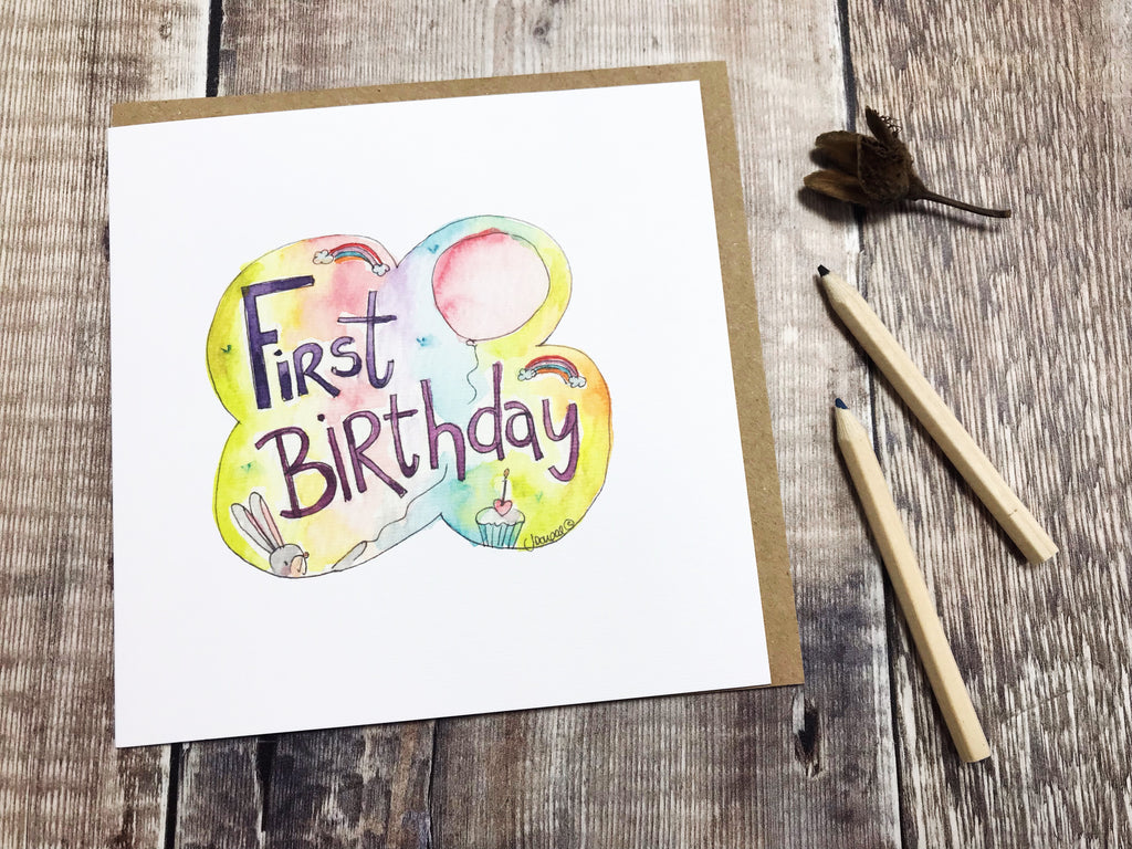 First Birthday Card - Personalised