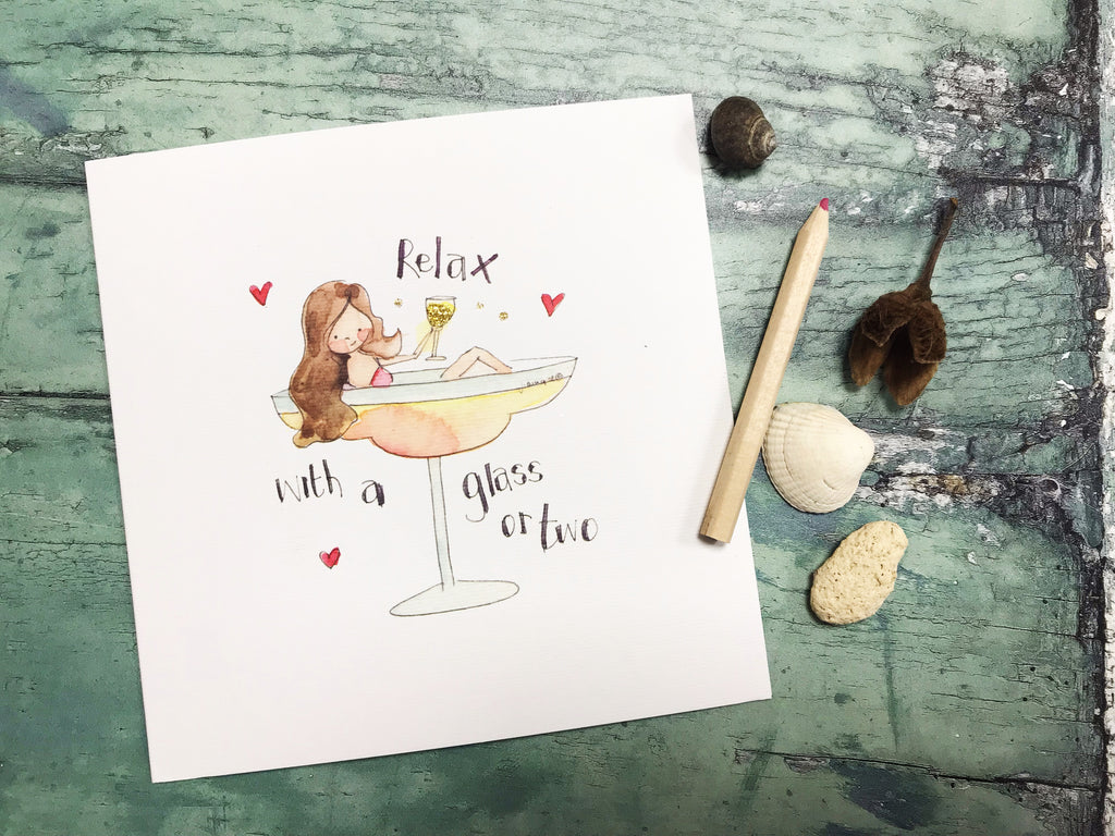 """Champagne Girl"" Card - Personalised"