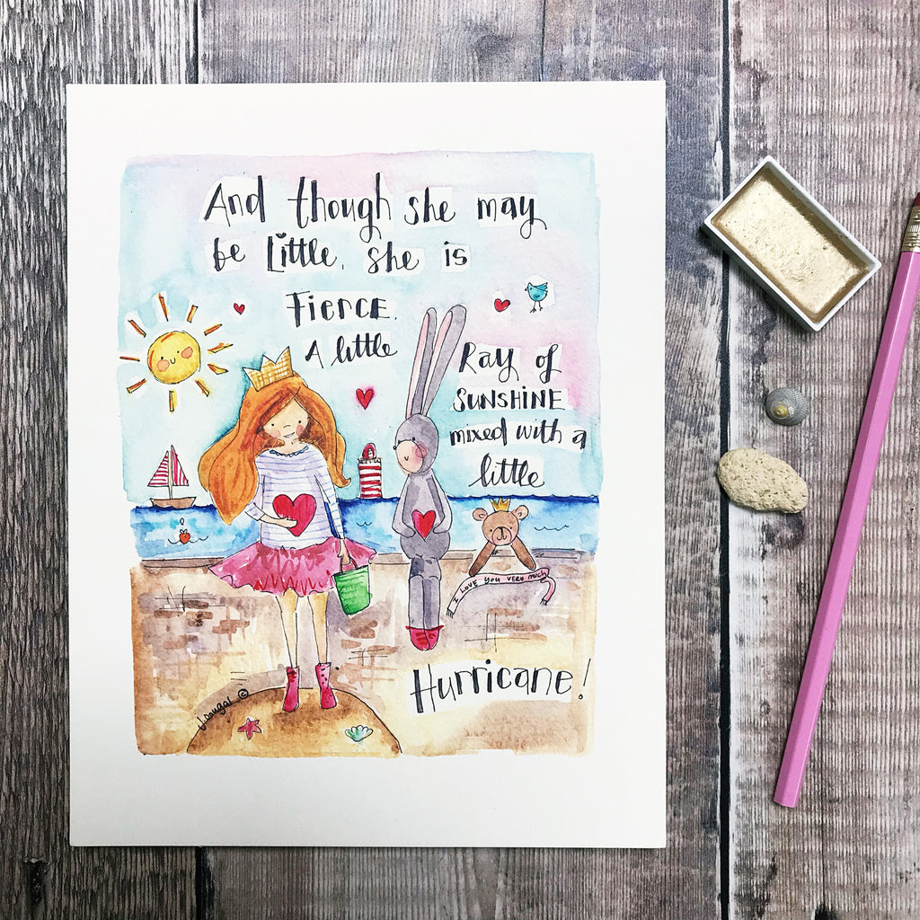 """Little Hurricane"" Personalised Print"