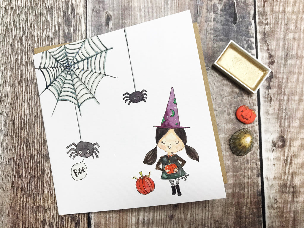 """Halloween, The Spider"" Card - Personalised"