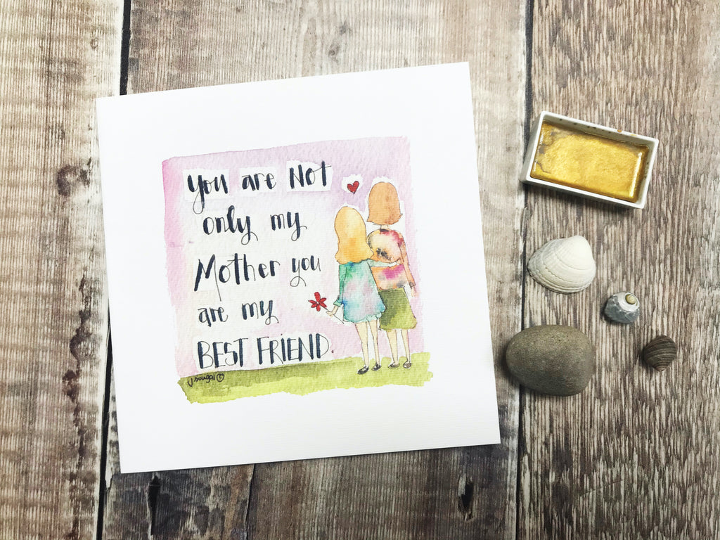 """Mummy, my Best Friend"" Card - Personalised"
