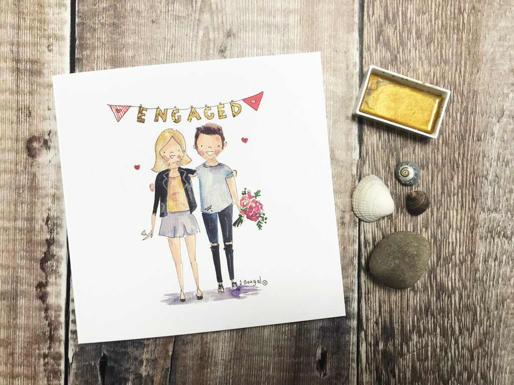 New Engaged Couple Card - Personalised