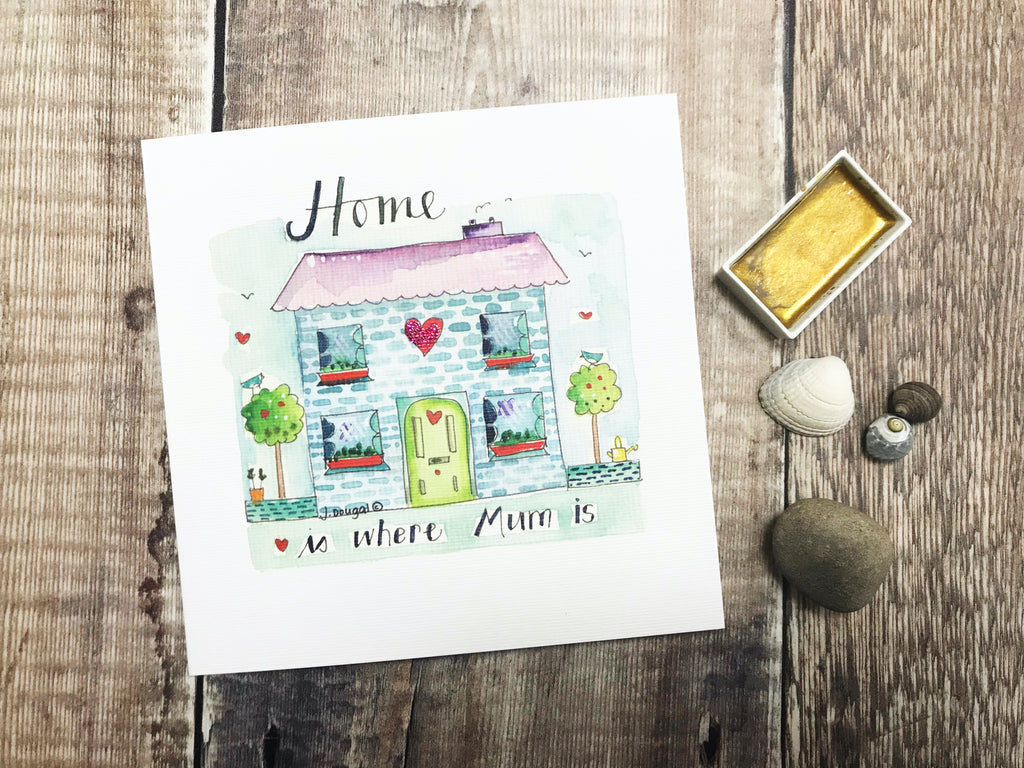 """Home is where Mum is"" Card - Personalised"
