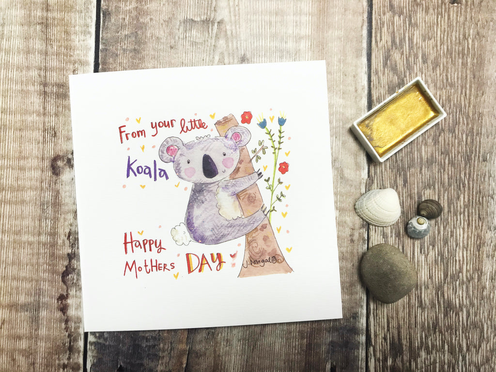 """Mummy from your little Koala"" Card - Personalised"