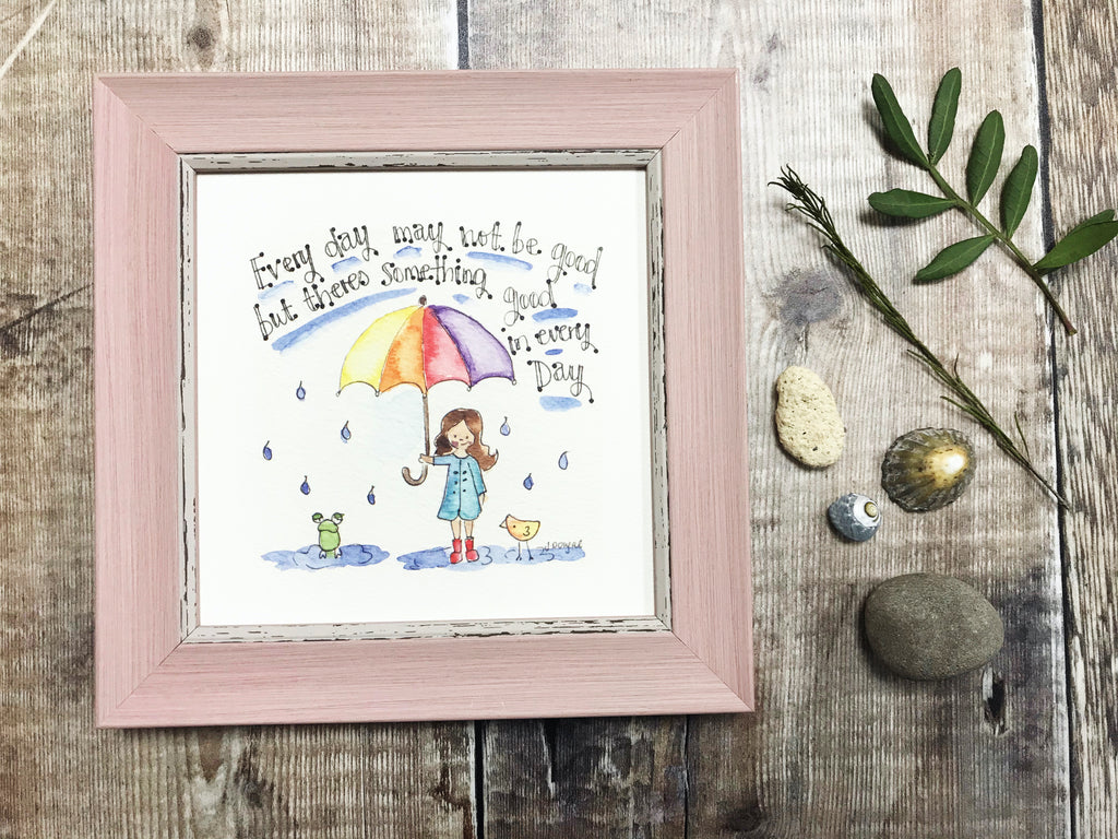 "Little Framed Print ""Every Day my not be Good"" can be personalised"