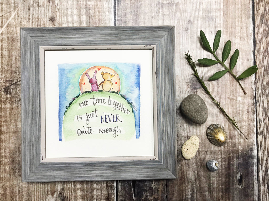 "Little Framed Print ""Our time Together"" can be personalised"
