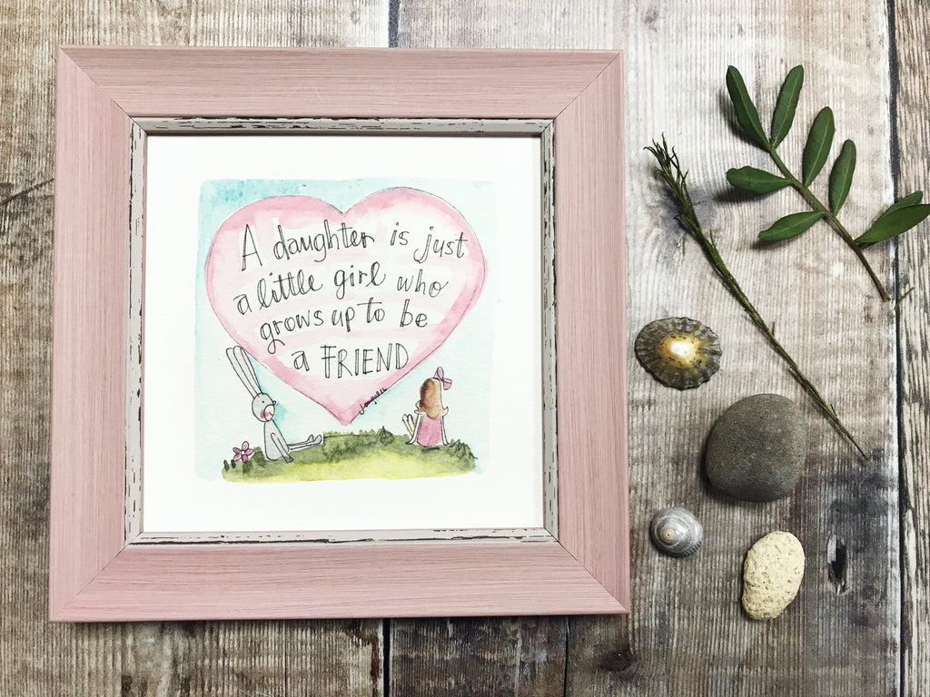 "Framed Print ""A Daughter"" can be personalised"