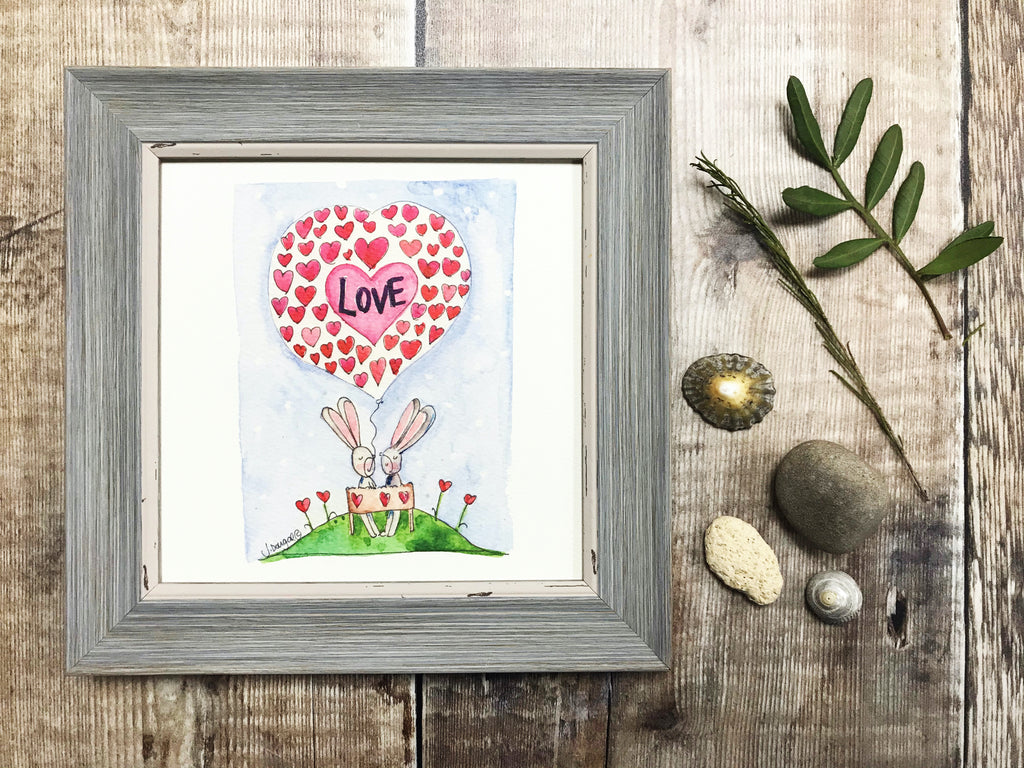 "Framed Print ""Love"" can be personalised"