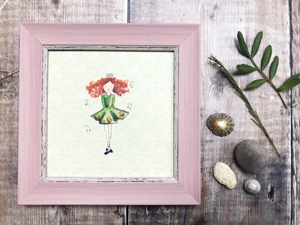 "Framed Print ""Irish Dancer"" can be personalised"