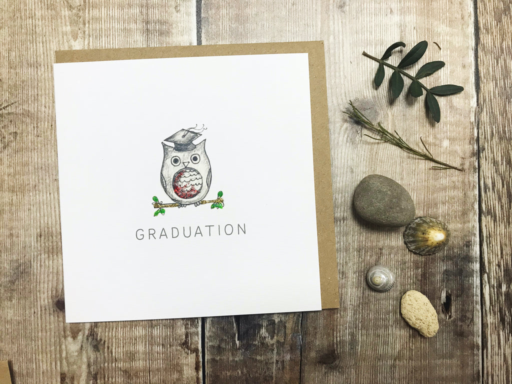 Graduation Owl Card - Personalised