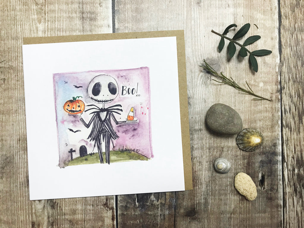 """Halloween Boo"" Card - Personalised"