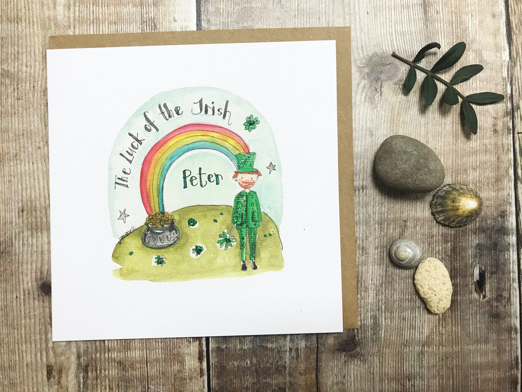 Luck of the Irish Card - Personalised
