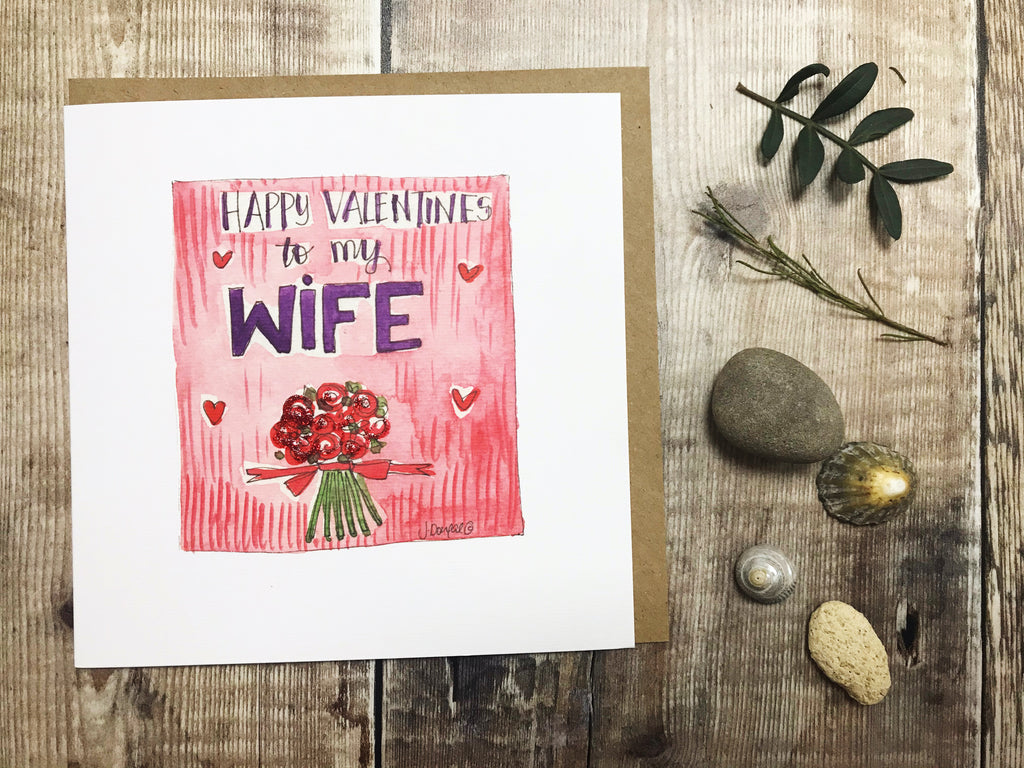 """Valentines Wife"" Card - Personalised"