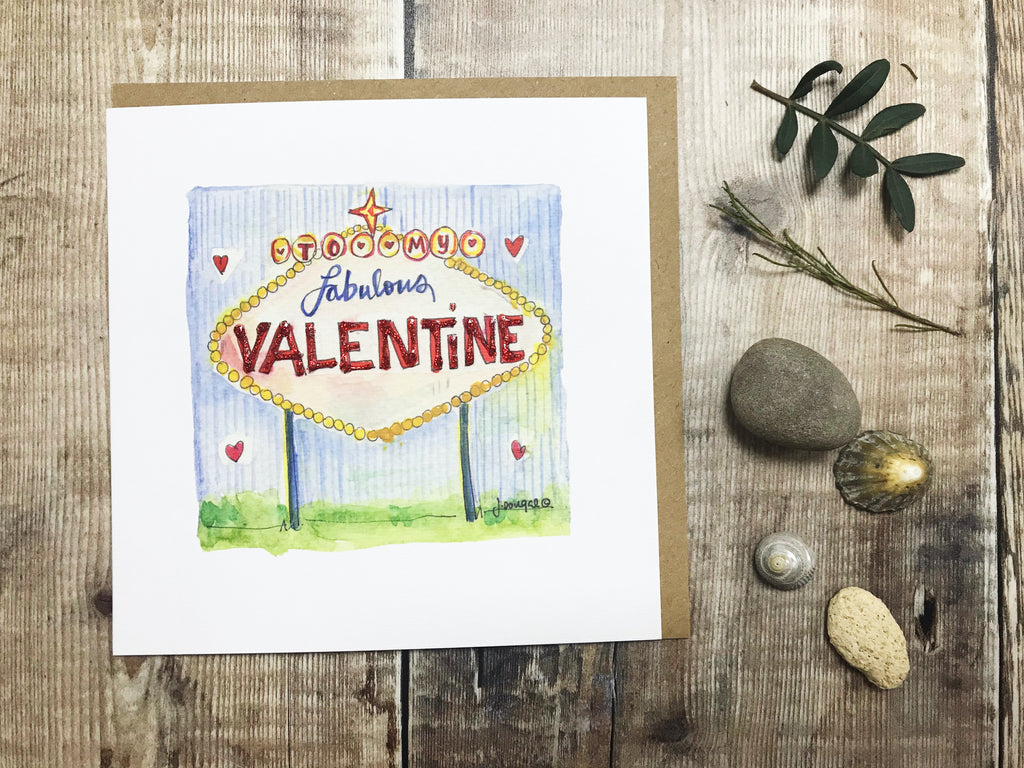"""Fabulous Valentine"" Card - Personalised"