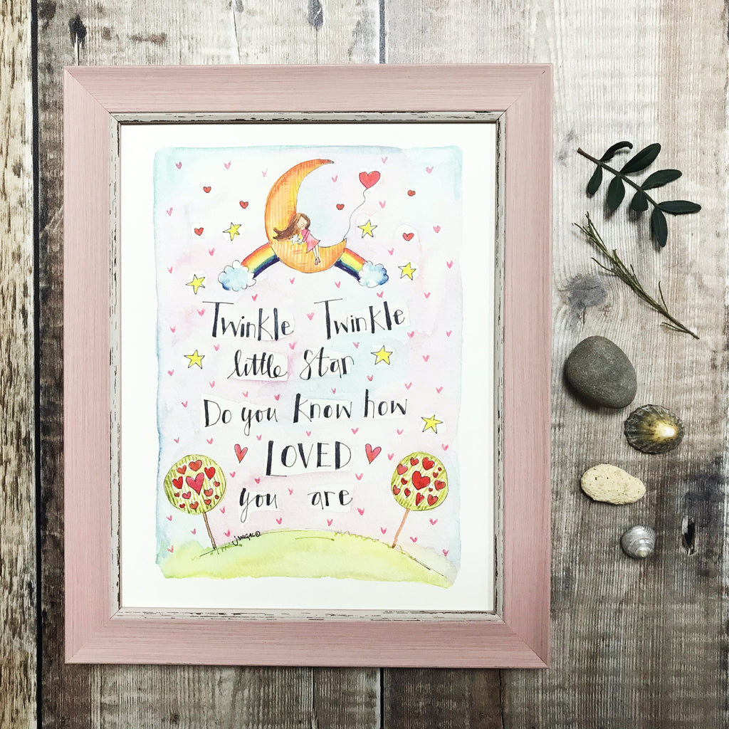 """Twinkle Twinkle Little Star"" Personalised print."