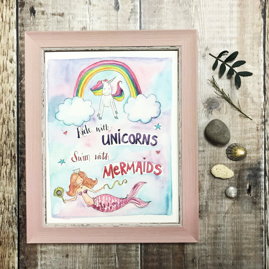 """Always be a Unicorn"" Personalised Print"