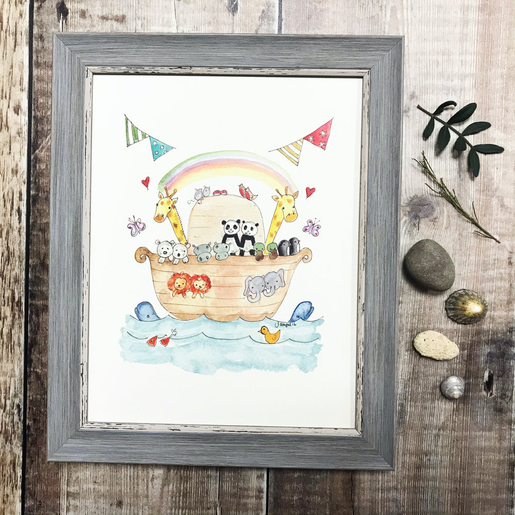 """Noah's Arc New Baby"" Personalised Print"