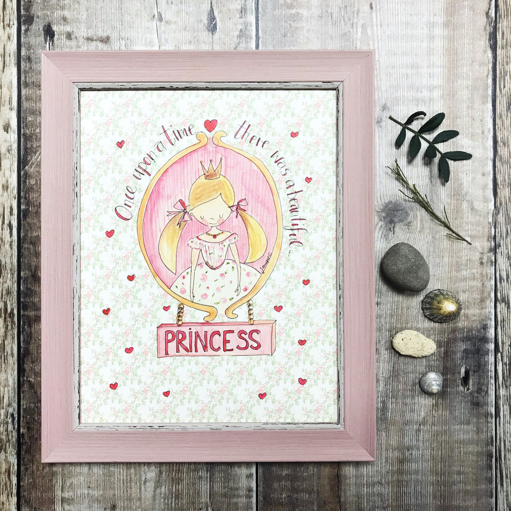 """Once Upon a Princess"" Personalised Print"