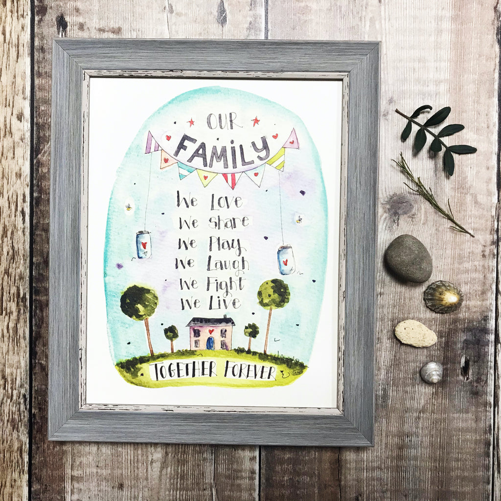 """Our Family"" Personalised Print"