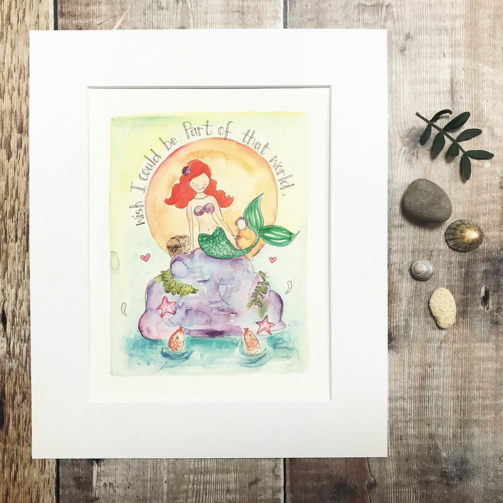 """A little Mermaid"" Personalised Print"