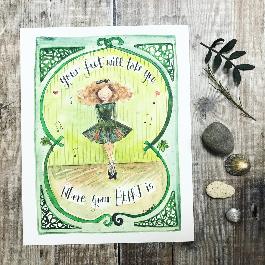 """Irish Dancer"" Personalised Print"
