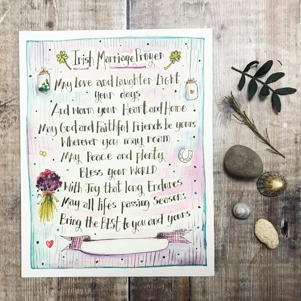 """Irish Marriage Prayer"" personalised print"