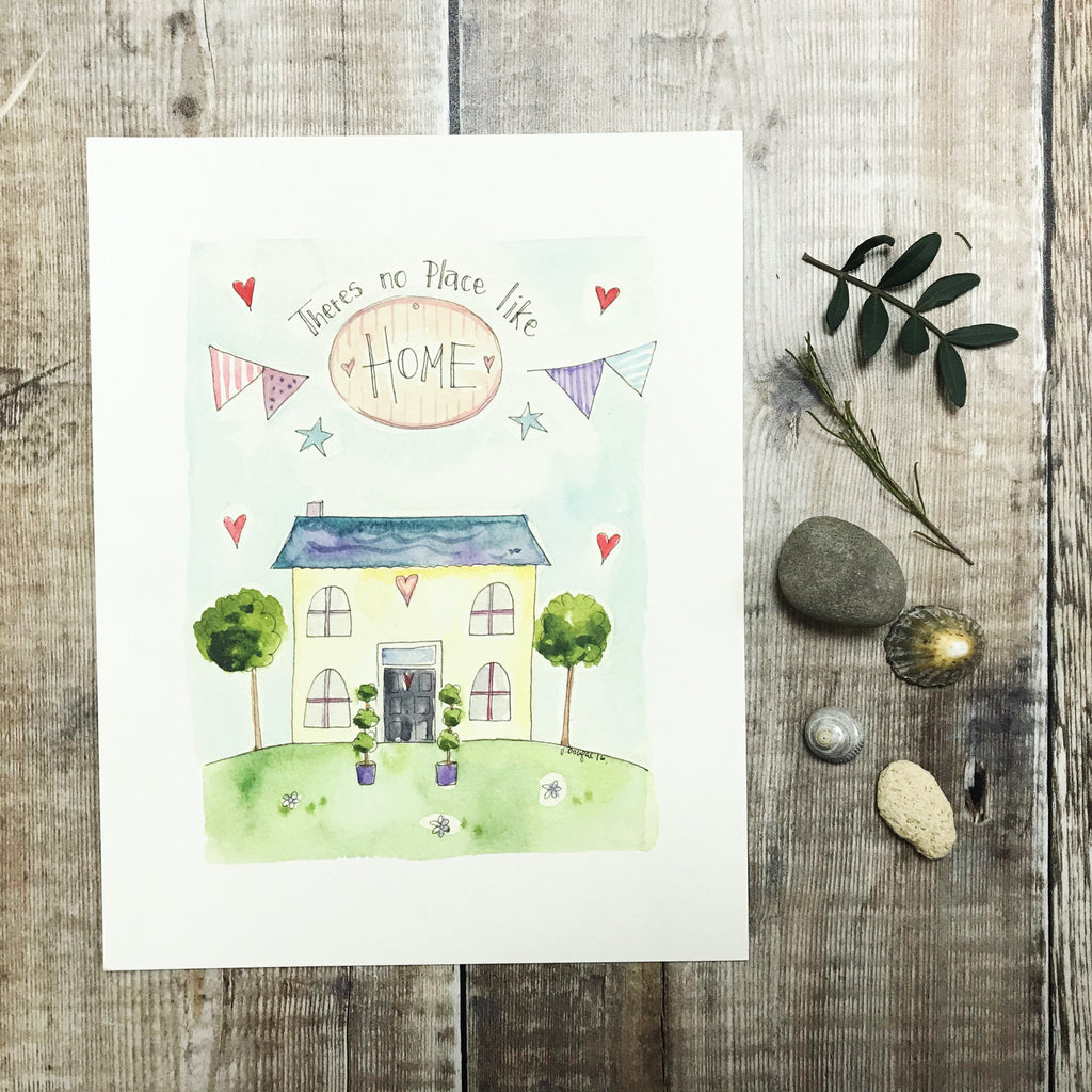 """No Place like Home"" Personalised Print"