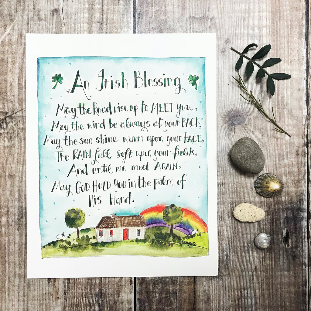 """Irish Blessing"" Personalised Print"