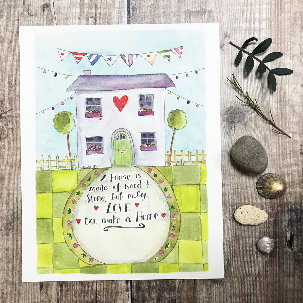 """Only Love can make a Home"" Personalised Print"
