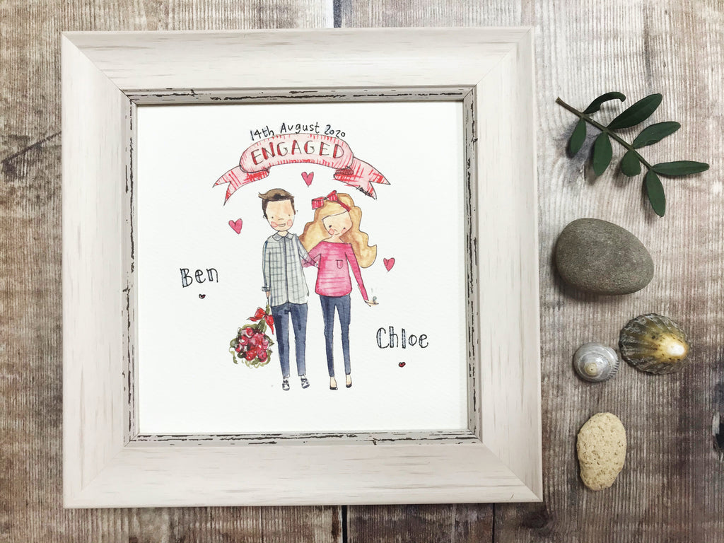 "Little Framed Print ""Little Couple"" can be personalised"