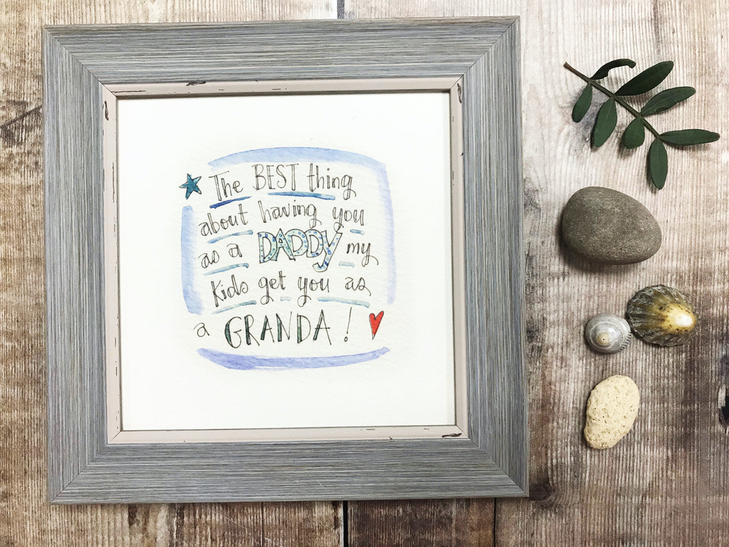 "Framed Print ""Granda"" can be personalised"