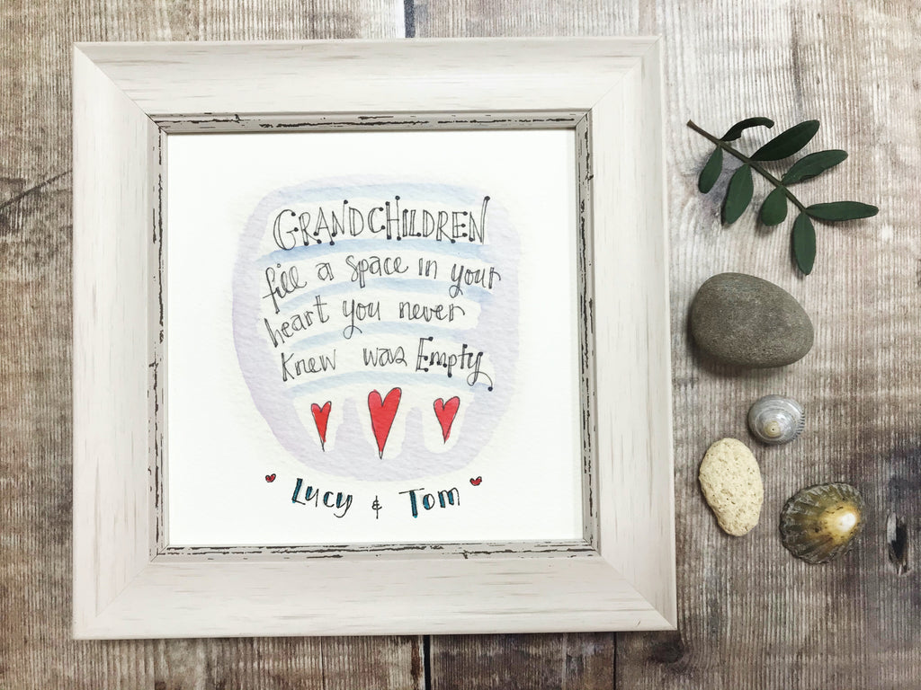 "Framed Print ""Grandchildren"" can be personalised"
