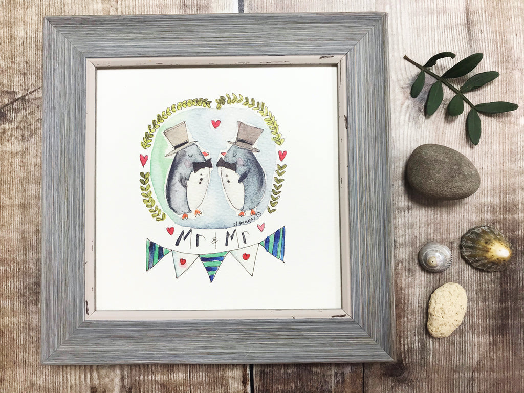 "Framed Print ""Mr and Mr"" can be personalised"