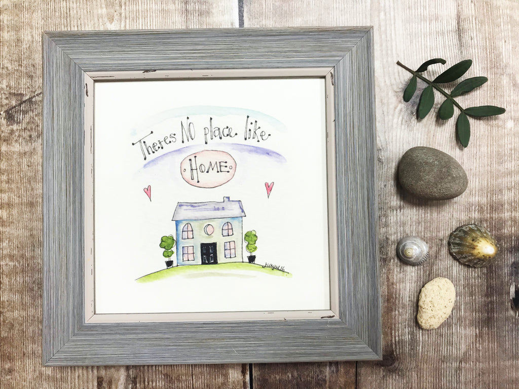 "Framed Print ""No Place Like Home"" can be personalised"