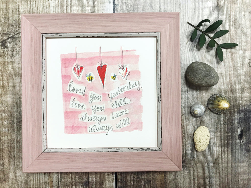 "Framed Print ""Love you Always"" can be personalised"