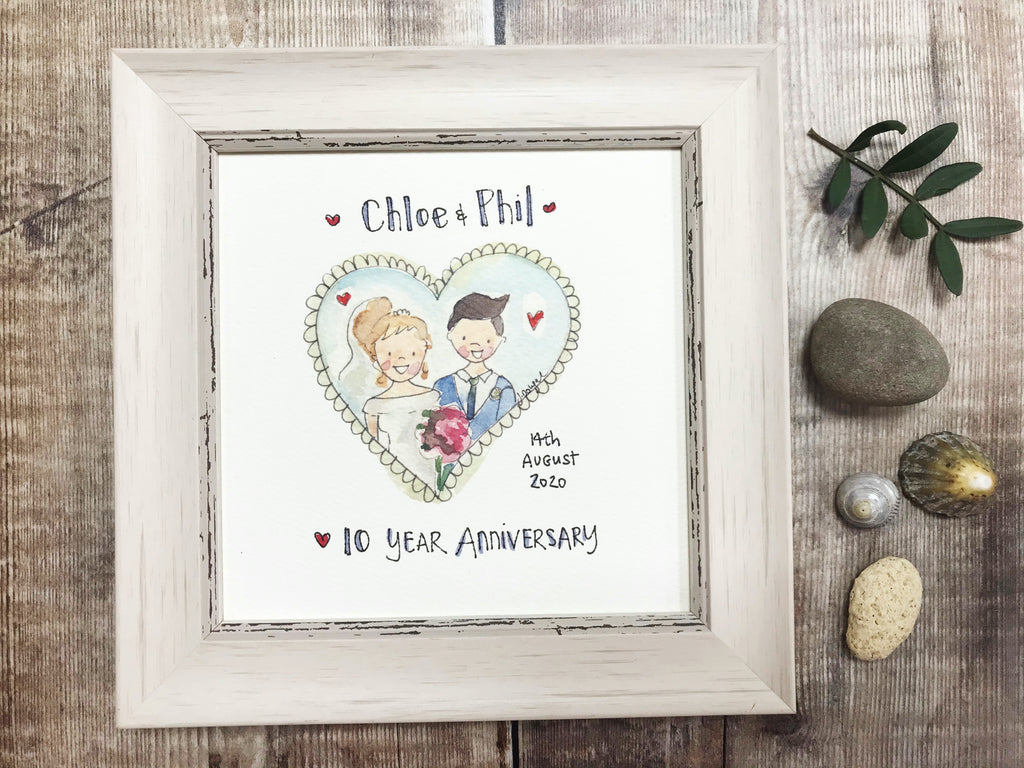 "Little Framed Print ""Little Couple Anniversary"" can be personalised"