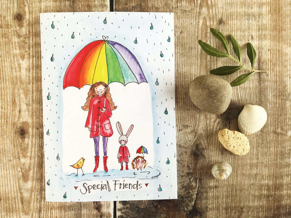 Special Friends BLANK A6 Notebook