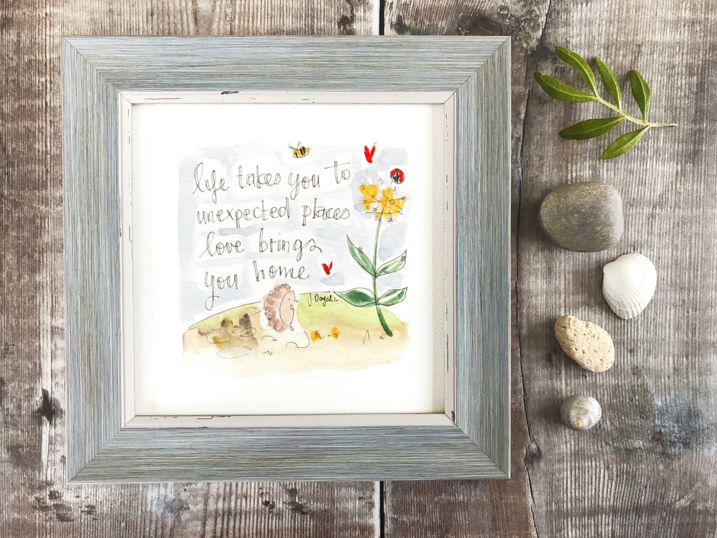 "Framed Print ""Life takes you to Unexpected Places"" can be personalised"