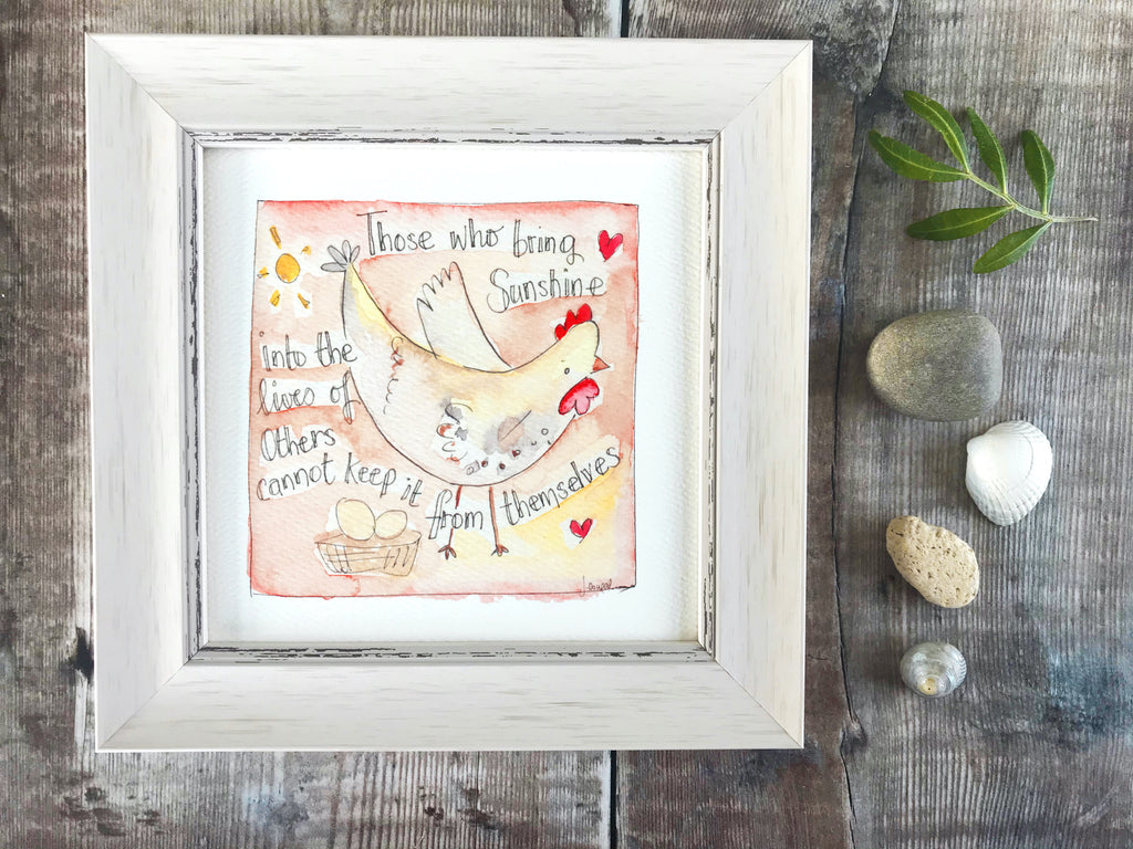 "Framed Print ""Those who bring Sunshine into the Lives of others"" can be personalised"