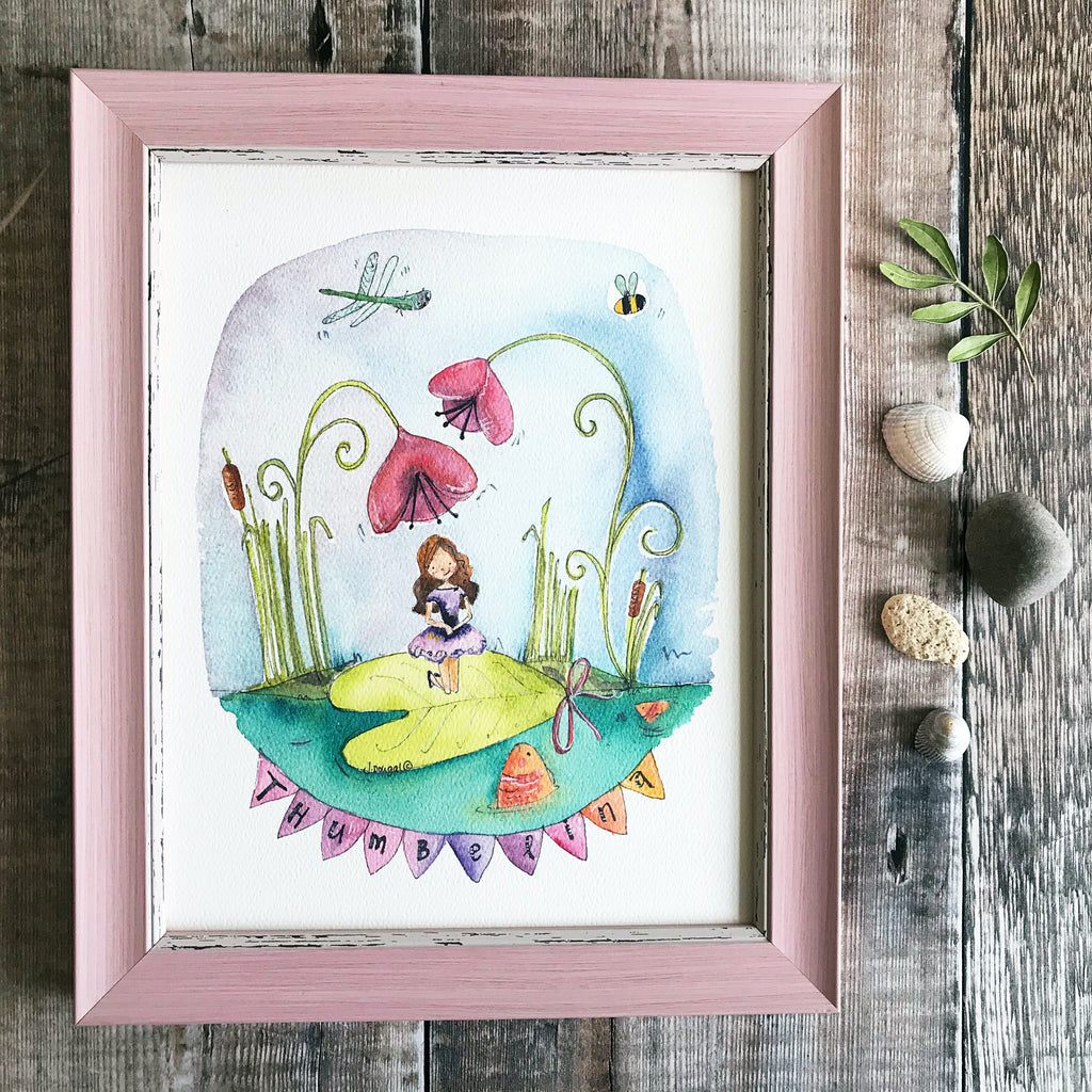 """Thumbelina"" Personalised print."