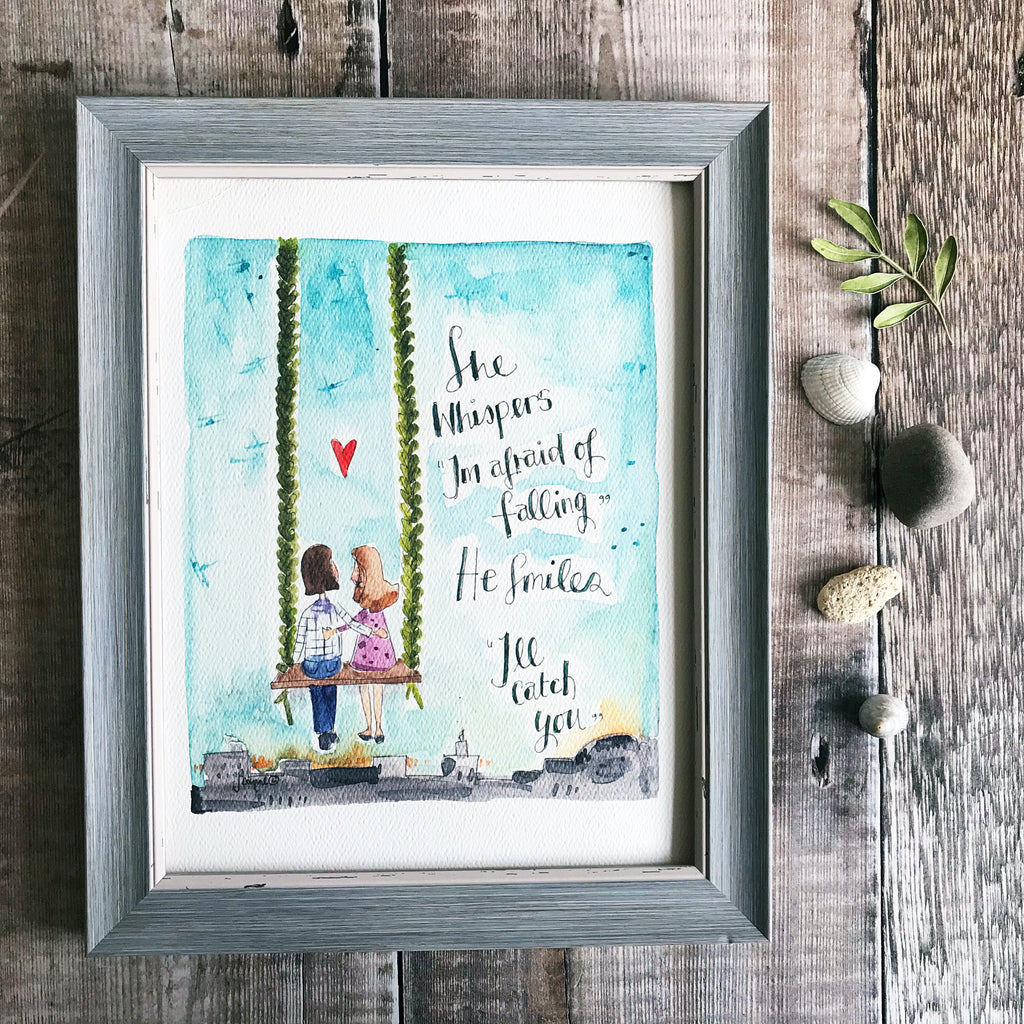"""I""ll Catch you"" Personalised Print"