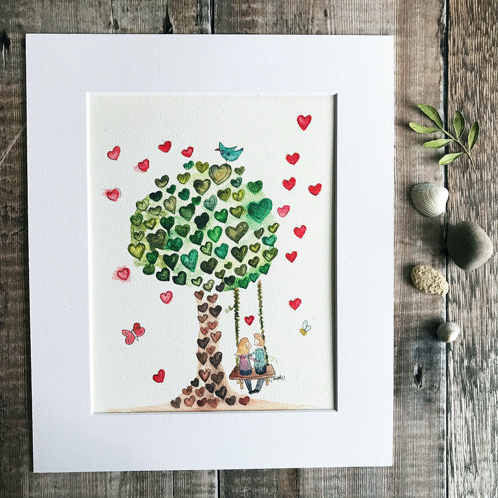 """Heart Tree"" Personalised Print"