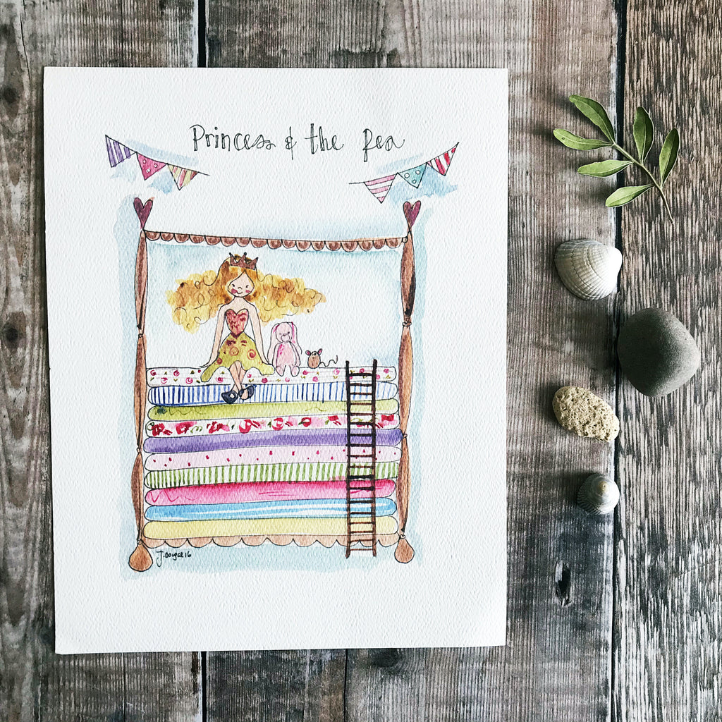 """Princess and the Pea Original"" Personalised Print"