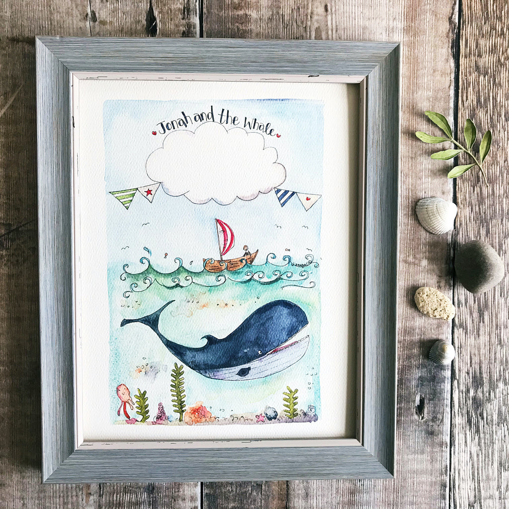 """Jonah and the Whale"" Personalised Print"